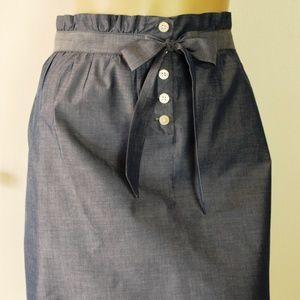 J. Crew Cottage Skirt Blue Chambray Mini Size L